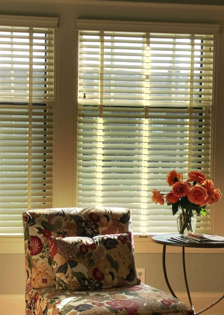 Wood Blinds w/ Decorative Tape